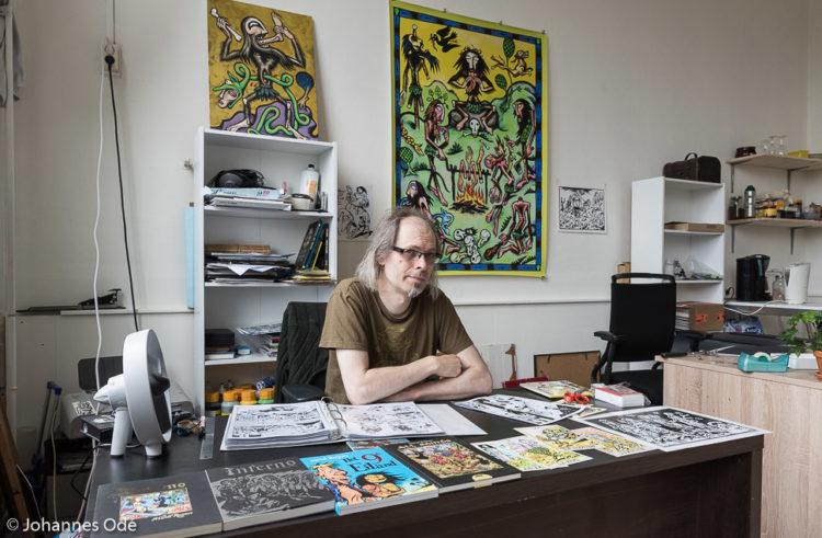 Striptekenaar met middeleeuwse inspiratie