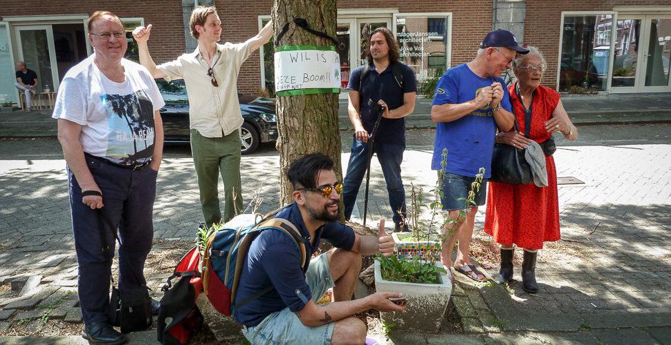 Brandbrief aan B&W, verzoek uitstel bomenkap Vijverhofstraat