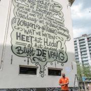 De Vriendenlaan is een street-art tekening rijker!